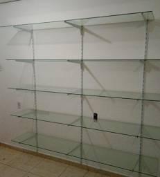 Prateleiras de vidro/araras para loja
