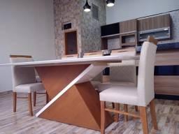 Título do anúncio: Mesa de jantar nova completa 8 lugares pintura laka