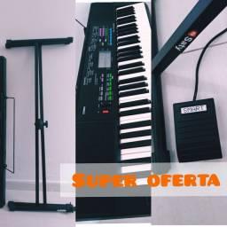 KIT: 1 TECLADO MUSICAL CTK-3400 CASIO + SUPORTE EM X + PEDAL SUSTAIN