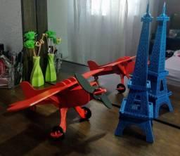 Avião madeira 30 cm
