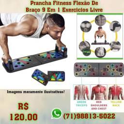 Prancha Fitness Flexão De Braço 9 Em 1 Exercicios Livre