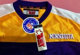NFL Camisa de Futebol Americano Vikings autografada por ED MCDANIEL número 58