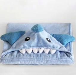 Título do anúncio: Toalha de Banho Infantil Aconchego Tubarão