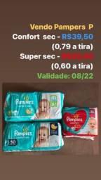 Vendo fraldas Pampers Tamanho P