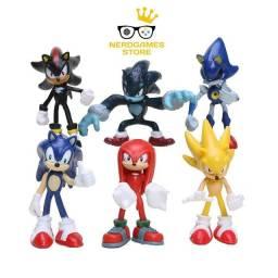 Título do anúncio: Sonic kit com 6 bonecos miniaturas