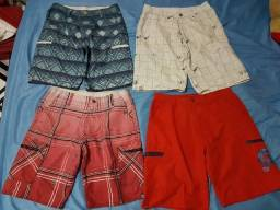 Bermudas e camisa e bones
