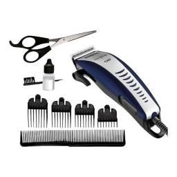 Máquina de Cortar Cabelo Hair Stylo CR07 Azul Cinza Mondial