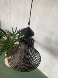 Luminária rústica - chapéu chinês