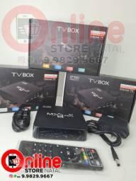 Tv box Mxq pro 4k 64gb 8gb 5g atualizado clacrados
