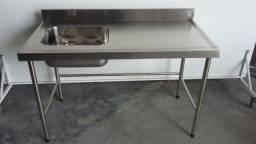 Pia 1400x700x900mm Aço Inox 304 Industria Farmaceutica | cozinha industrial