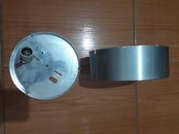 Luminária Disco (antiga) Base Em Alumínio Diâm. 21cm X 7 Cm
