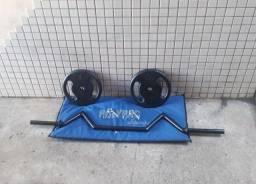 Barra W 2 Anilhas de 10kg