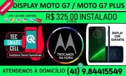 Promoção Troca display completo Motorola Moto G7 / G7 Plus Instalado na hora, Garantia