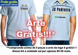 Camiseta para empresa apenas 30 reais