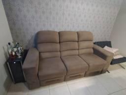 Título do anúncio: Vendo Sofá poltrona 3 lugares reclinável