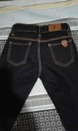 Tenho essa linda calça jeans tamanho 4 e camisa polo pool todas super conservado