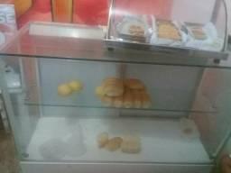 Vitrini De pão de padaria vende logo