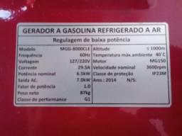 Vendo gerador a gasolina usado poucas vezes tem 450 horas