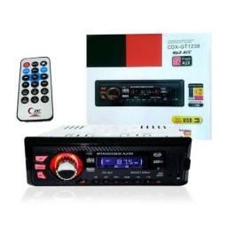 Radio Som Automotivo Fm P2 Usb Mp3 Pen Drive Cartão Sd Controle Remoto Equalizador Gráfico