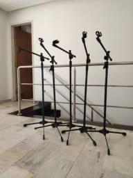 OFERTA INCRÍVEL* 5 pedestais microfone ASK (usados)