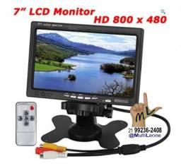 """Monitor Tela de carro colorido Tft LCD de 7"""" polegadas . Grátis: Mini Câmera"""