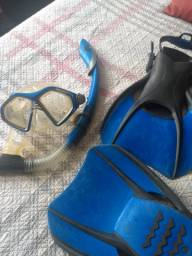 Kit mergulho AquaLung - usado