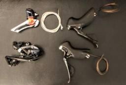 Kit Shimano Ultegra R8000 STI + Câmbios traseiro e dianteiro 22V (Produto novo)