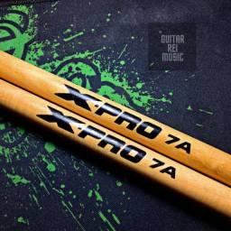 Baquetas 7A X-PRO Madeira Natural (Produto Novo)