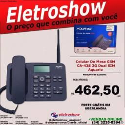 Celular de Mesa GSM Ca-41S 2G Dual SIM Aquário