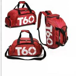 Mochila Academia T60 Roxo e Vermelho