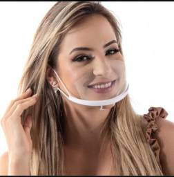 Máscara acrilica higiênica confortavel
