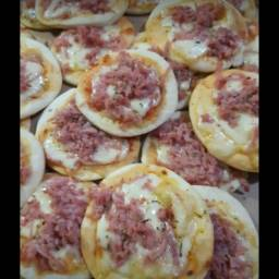Mini pizza, Hot Dog ,CREME DE GALINHA