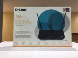 Roteador D-LINK ac750Mbps, Dual Band 3 Antenas DIR-819