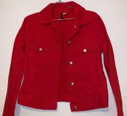 jaqueta vermelha tam p
