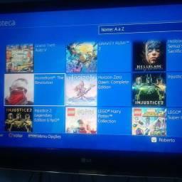 PS 4 eslim desbloquear mas de 50 jogos 2 controles