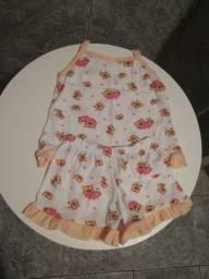 Pijama/baby doll infantil