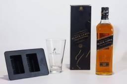 Whisky Johnnie Walker Black Label 1Litro + Copo + Bandeja Gelo