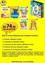 BOX 5 LIVROS |CLÁSSICOS DA LITERATURA INFANTIL