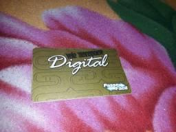 Cartão passe fácil digital