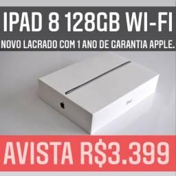 iPad 8 128gb Wi-Fi novo lacrado com 1 ano de garantia Apple.