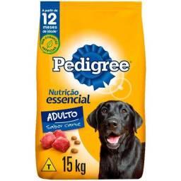 Ração Pedigree Nutrição Essencial Carne para Cães Adultos Raças Médias e Grandes - 15Kg