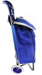 Carrinho de Compra Azul super prático só R$70