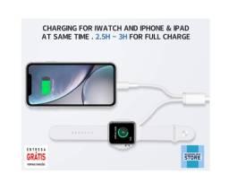 Carregador duplo para Apple Watch e iPhone / iPad - Novo - Entrega Grátis