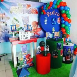 Título do anúncio: Decoração de festa tema pjmask R$ 150
