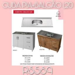 PIA+BALCÃO SÓ R$589