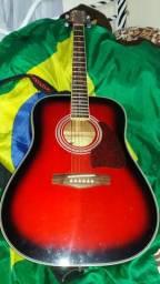Violão Eagle vermelho/preto Caixa folk c/n.f