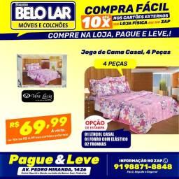 Jogo De Cama Casal, 4 Peças, Compre no zap *