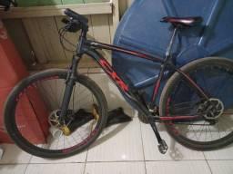 Bicicleta Lotus CXR Cinza/Vermelho Shimano Tourney 21 V Aro 29 Freio Mec Qdr Alumínio 19