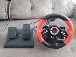 Volante Leadership Gamer com pedal e câmbio borboleta