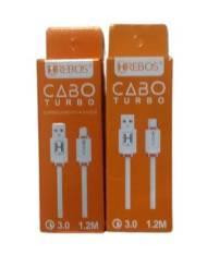 Cabo turbo Micro USB (V8)/TIPO-C (entrega grátis) para samsung motorola xiaomi